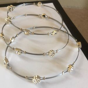 Jewelry - 3 Guitar String CZ Bracelets ! NEW